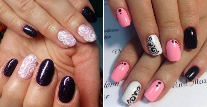 акварельная роспись на ногтях
