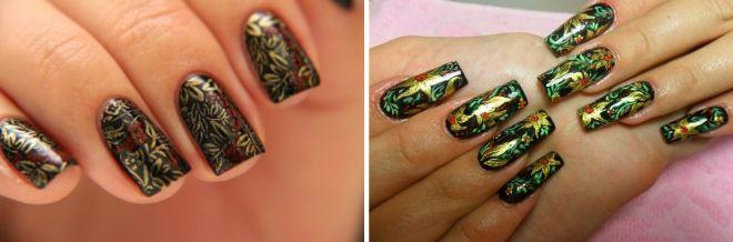красивая роспись на ногтях