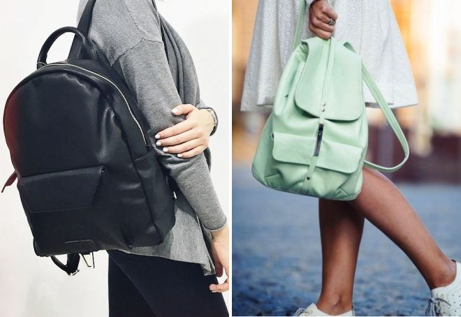 Модные кожанные рюкзаки для девушек travel dream рюкзаки