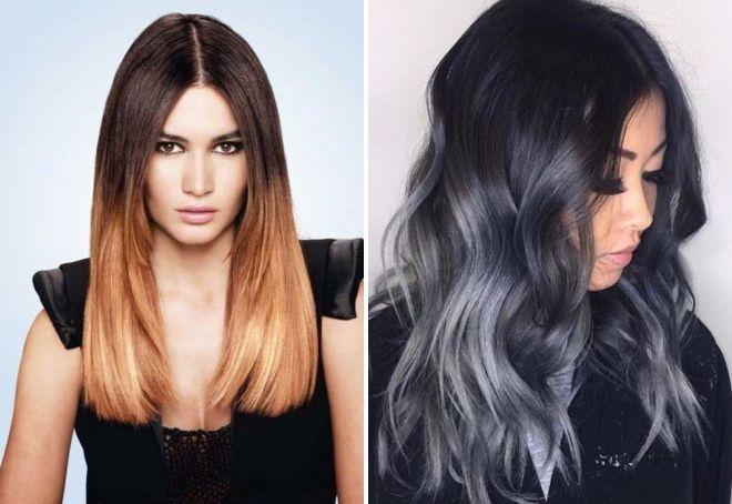 модные техники окрашивания волос 2018