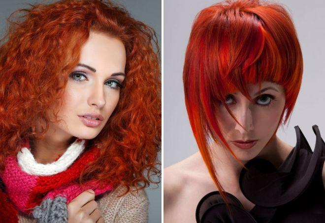 цвет волос 2018 для рыжих
