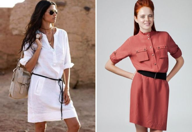 Модные льняные платья фото
