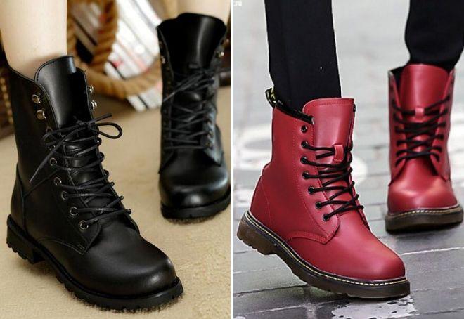 Модные женские ботинки зимние 2018