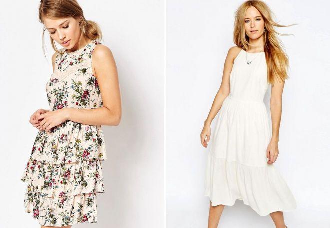 Ярусные летние платья
