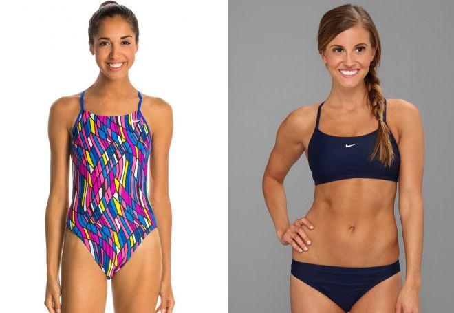 спортивные раздельные купальники