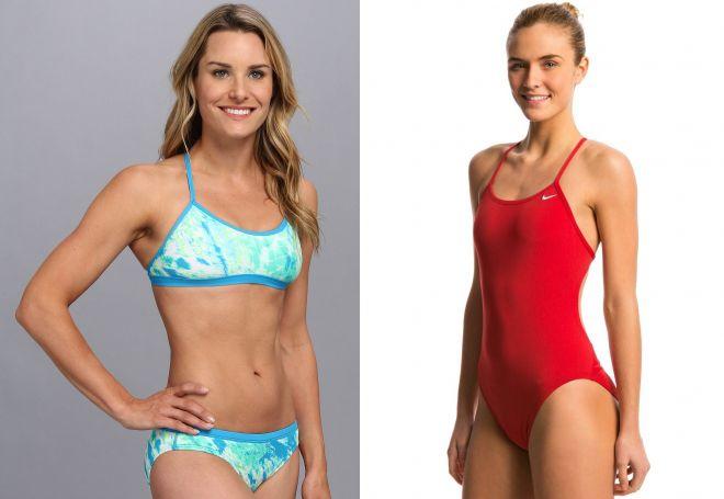 стильные спортивные купальники