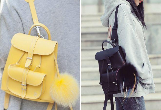 Рюкзак с помпоном сумка-рюкзак reebok 10k wheeled sr 26