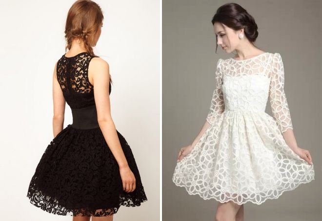 Фото кружевное пышное платье