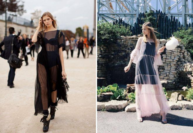 Что носят под прозрачное платье