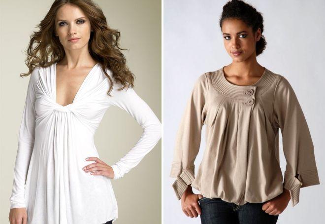 стильные трикотажные блузки