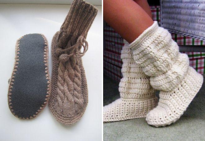 Модные женские вязаные сапоги – зимние, осенние, чулки ...