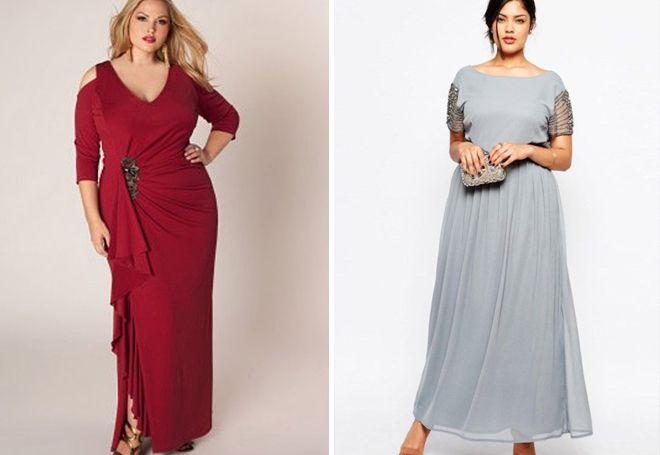 Летние вечерние платья для полных
