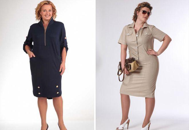 Повседневные платья для полных женщин
