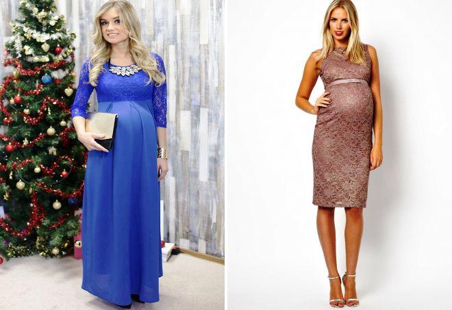 платья на новый год 2018 для беременных