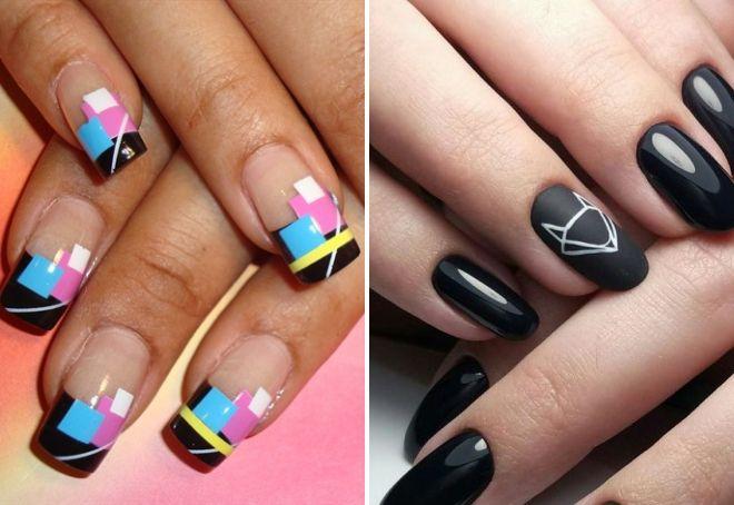 маникюр геометрия на длинные ногти