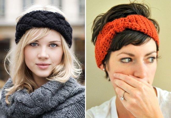 Как связать повязку на голову спицами своими руками