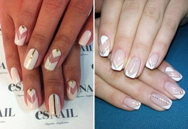 очень нежный дизайн ногтей