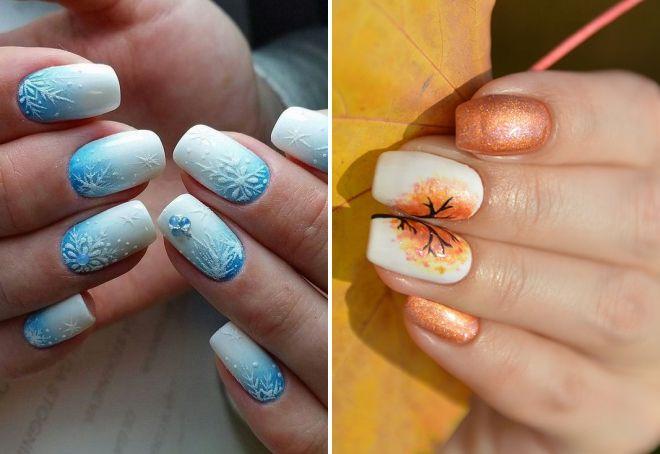 нежно голубой дизайн ногтей