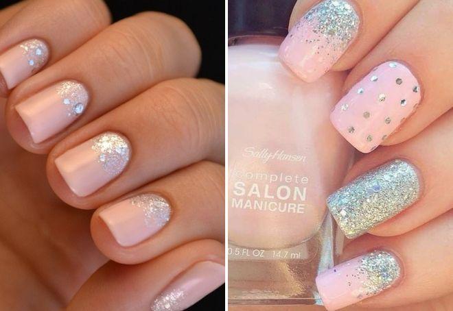 дизайн ногтей нежно розового цвета