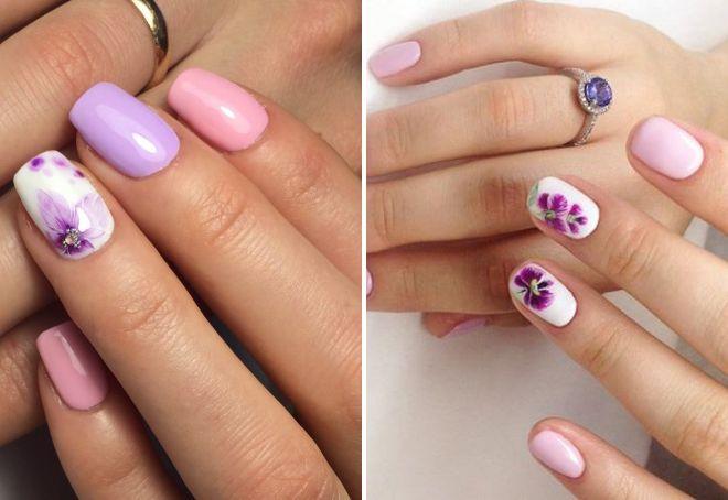 дизайн ногтей нежные оттенки