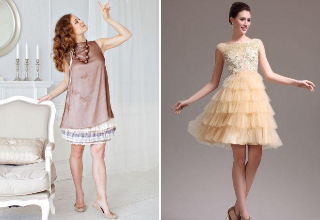 стильные летние платья а силуэта