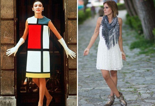 платье а образного силуэта
