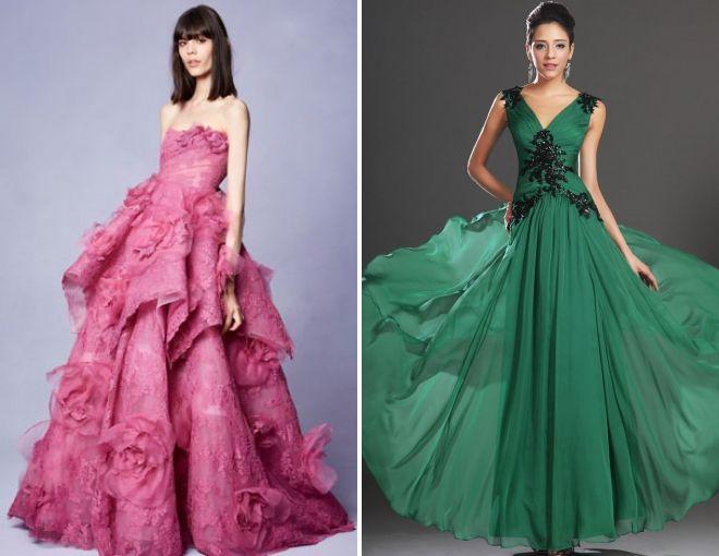 выпускные платья в пол 2018 год