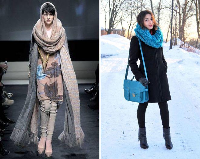 Как правильно носить шарф хомут рекомендации