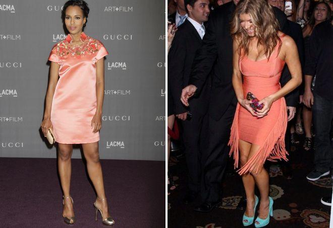 Обувь к персиковому платью