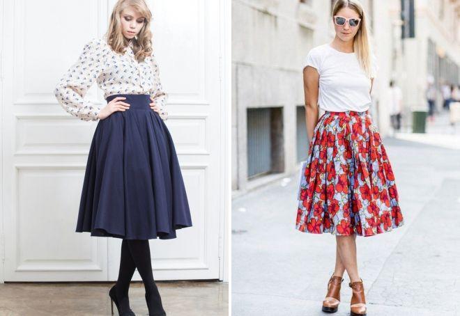 Модные пышные юбки фото