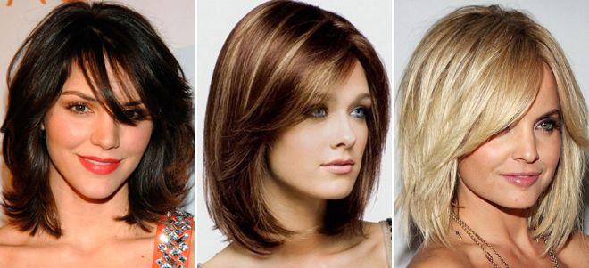 Стрижка осень 2017 на средние волосы