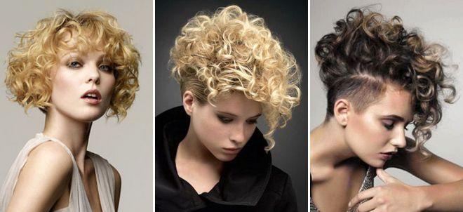 Женские стрижки 2017 на вьющиеся волосы