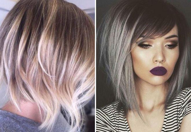 Модная окраска волос 2017 на боб каре