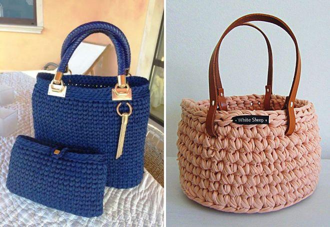 Модная сумка из трикотажной пряжи – клатч и рюкзак, торба ...