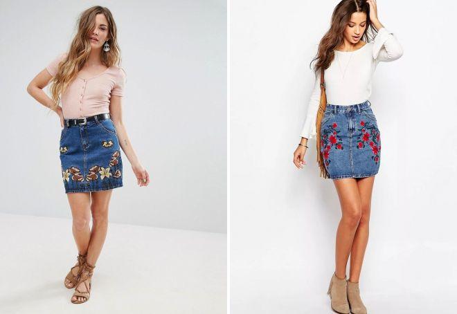 Коллекция джинсовых юбок