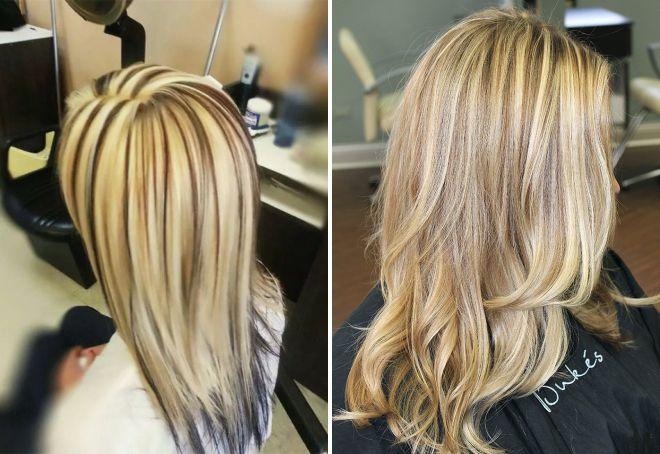 Мелирование волос широкими прядями