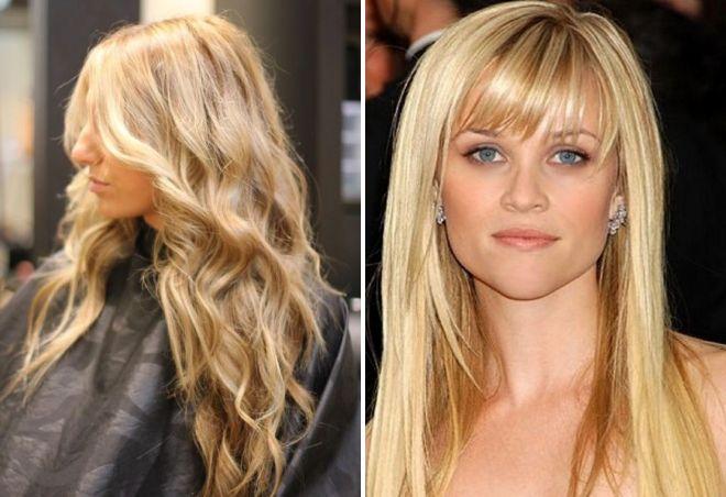 Красивое мелирование на русые волосы