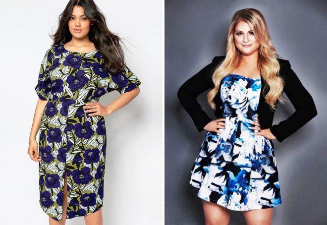 Модные платья из ситца для полных
