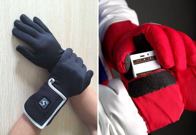 зимние перчатки с подогревом