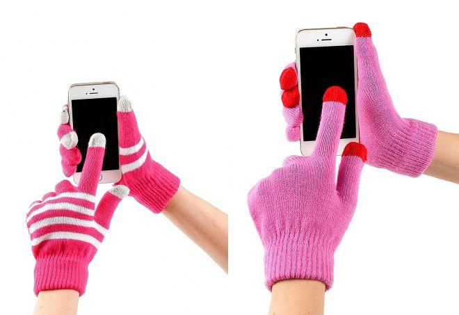 сенсорные зимние перчатки