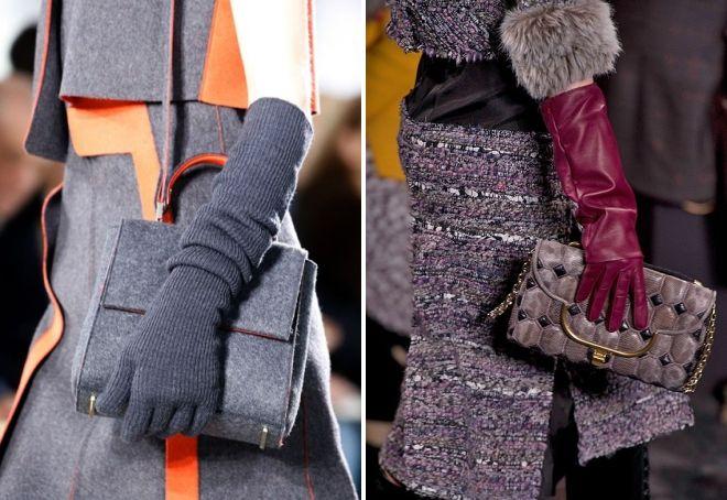женские длинные зимние перчатки
