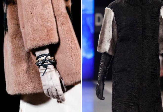 зимние перчатки под шубу