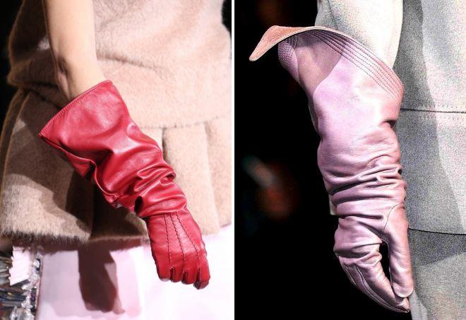 длинные зимние перчатки