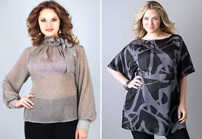 модные блузки для полных 2017
