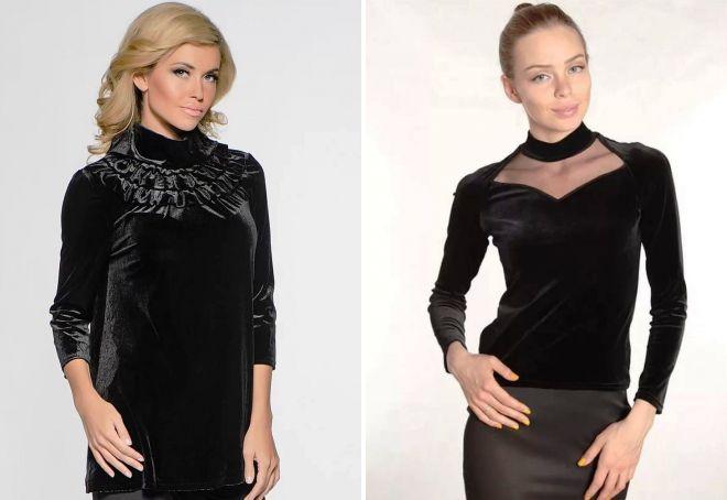 бархатные блузки 2017