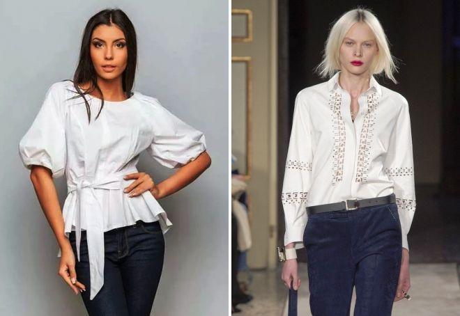 модная белая блузка 2017