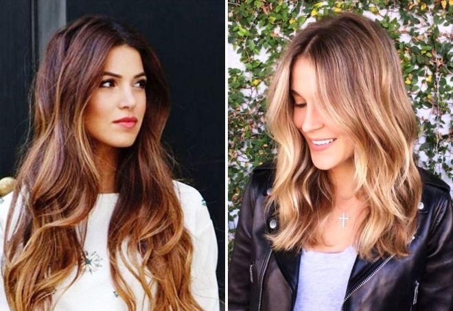 Модная покраска волос 2017 на короткие, средние и длинные волосы