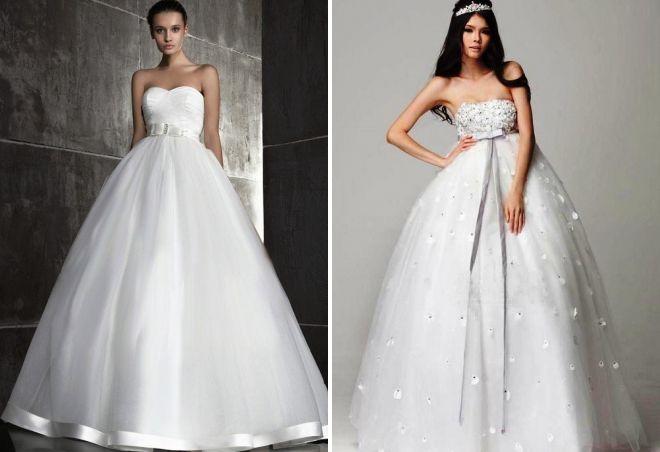 пышные свадебные платья для беременных