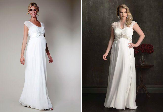 свадебные платья для беременных 2017