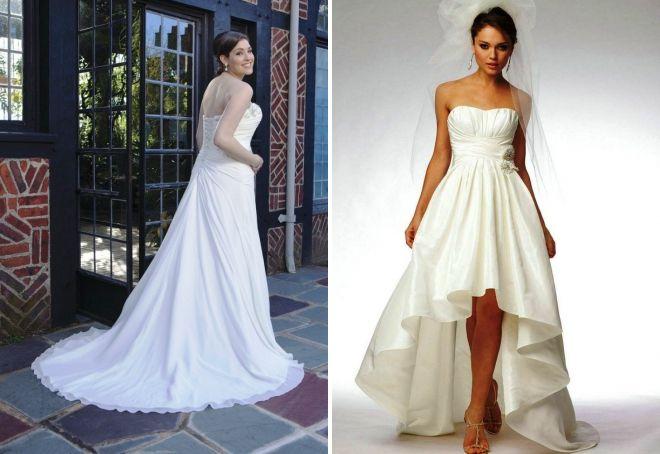 свадебные платья со шлейфом для беременных